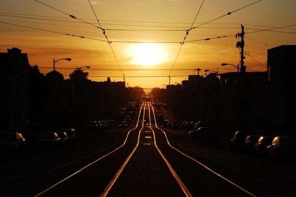 sunset tram tracks